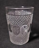 "Kokomo Glass #50 ~DEW & RAINDROP~ Clear Flat 4"" Juice TUMBLER Circa 1905 EAPG"