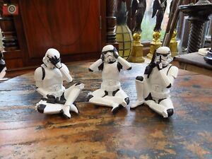 3 WISE STORMTROOPERS STAR WARS, Official Licensed Figures, Larger size. Nemesis