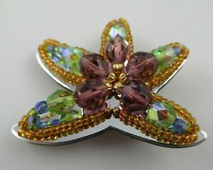 Signed Liztech Starfish Artisan Brooch Pin 2011