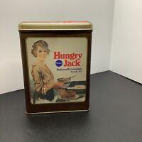 Vintage 1980's Pillsbury Hungry Jack Buttermilk Pancake Mix TinAdvertising