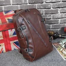 Men Leather Shoulder Bag Retro Bookpack Men Traveling Backpack Korean Trend New
