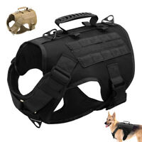 No Pull Tactical Dog Harness Military K9 Working Training MOLLE Vest Doberman