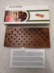 CHINESE CHECKERS(Chequers) FOR TWO (HALMA) by ANRI ( BOXED) 1970's