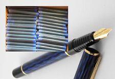 40 ink Cartridges, Refills for WATERMAN LAUREAT Fountain Pen in BLUE (new)