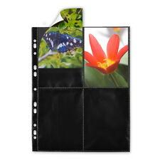 500 schwarze Fotohüllen 77850 Hochformat 10x15 cm Fotosichthüllen Photohüllen