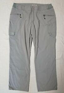 Women's CABELA'S XPG nylon spandex Gray Cargo Pants size 20 hiking camping nice!