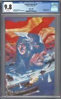 Captain America #1 CGC 9.8 Ross 1:100 VIRGIN Wraparound VARIANT Cover