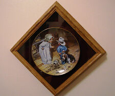 """Don Crook collector plate """"In trouble again"""" - Limited edition.Plate # 3129R"""