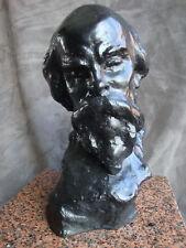 Paul VERLAINE Buste en bronze noir numéroté 1/8 et signé. Gaston Deprez