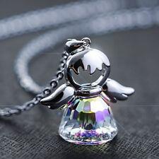 Halskette + Schutzengel Anhänger 925 Silber mit Kristallen von Swarovski® Liebe