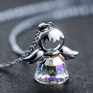 Halskette + Schutzengel Anhänger 925 Silber mit Kristall von Swarovski® Engel