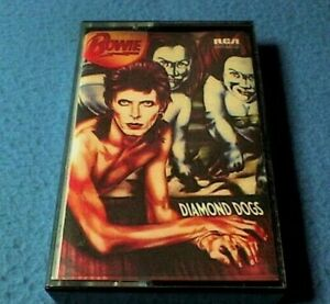 David Bowie - Diamond Dogs Cassette Tape (1974) - Tested - Excellent Condition