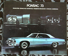 PONTIAC GRAND PRIX Bonneville 1973 brochure catalog - French - Canadian Market