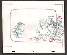 """Flintstones Animation Art - """"Rock Rockstone"""" Fred + Barney #5A Scene 7 Fans Out"""