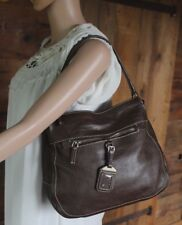 $1395~PRADA Brown Vitello Daino~Tag BR2253 Pebbled LEATHER  Bag~PURSE Hobo RARE