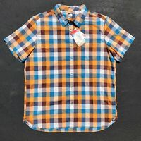 New The North Face Road Trip Men's Size XL Stretch Plaid Short Sleeve Shirt