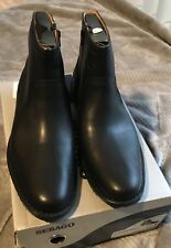 NEW Sebago Mens Metro Zip Black Leather Boots  Sz US 10.5D