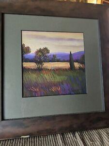 """Beth Crowder 2004 original oil pastel """"Kentucky roadside"""" Signed back/front"""
