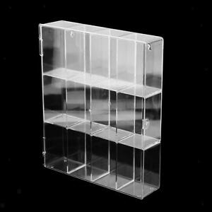 Clear Acrylic Display Case Organizer Stand Dustproof for Mini Figures Holder