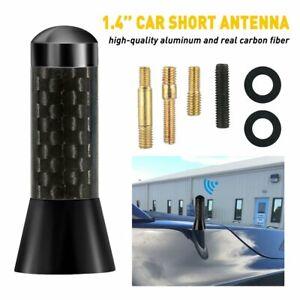 Universal Black Carbon Fiber Car FM AM Stereo Radio Antenna Aerial Waterproof