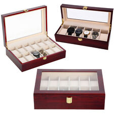 12 Grids Watch Wood Storage Boxes Display Jewelry Case Organizer Holder Fashion