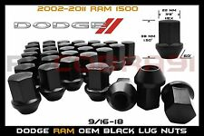 2002-2011 DODGE RAM 1500 BLACK OEM TYPE WHEEL LUG NUTS 9/16 FACTORY LUGS 5X5.5