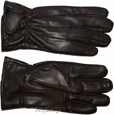 Men's leather gloves, (XL) Brown Unbranded winter gloves lined warm gloves B New
