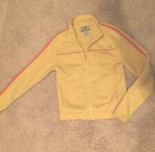 Horny Toad Yellow Full Zip Track Jacket Medium M Women's Toad and Co. stripe