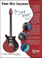 Queen band Brian May Signature Burns Red Special guitar ad 8 x 11 advertisement