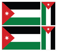 4 X JORDAN FLAG VINYL CAR VAN IPAD LAPTOP STICKER