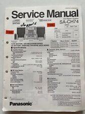 SA-CH74 original Panasonic CD Stereo System, HI-FI Anlage Service Manual neu