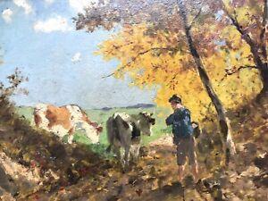 Richard von Poschinger Impressionist München Gemälde Öl Leinwand signiert Unikat