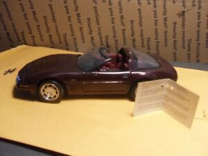 RARE 1993 Corvette ZR-1 Coupe 40th anniversary ruby red by Franklin Mint