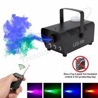 Wireless RGB LED Smoke Mist Fog Machine 400W Disco Stage DJ Fogger Lighting Club