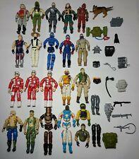 HUGE LOT Of Vintage 80s 90s GI Joe 3.75 Inch Figures Hasbro Weapons Accessories