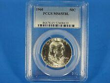 1960 P  Silver Franklin Half Dollar PCGS Ms 65 FBL  Nice Looking Franklin