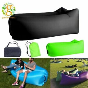 Inflatable Sofa Beach Camping Lightweight Air Lounger Bed Travel Picnic Outdoor