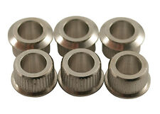 Kluson Guitar Tuner Conversion Bushings • USA • 10.5 mm OD/6.35 mm ID • Nickel