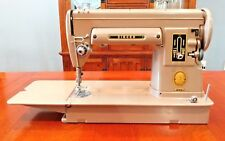 SINGER 301A  301 LONG BED SEWING MACHINE-Case-button holer-manuals-accessories