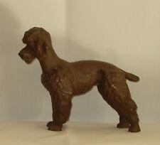 Meissen porcelana figura figuras perro marrón caniche