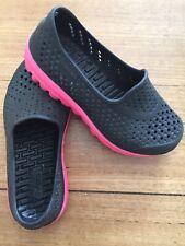 Girls Skechers H2GO Slip-on Water Shoes Black/Pink size 12