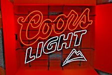 "Coors Light or Coors Beer Dual Ballast Large Neon Display Sign - New - 38"" x 32"""