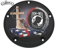 Harley Davidson CUSTOM Timing Points cover  Sportster big Twin Cam M8 POW MIA