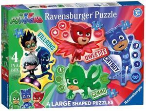 Ravensburger 06935 PJ Masks 4 Large 10/12/14/16 Pieces Shaped Jigsaw Puzzles