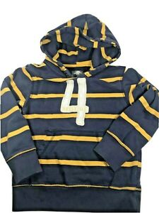 H&M LOGG Boys Navy & Gold Striped Hoodie Pullovers Sweatshirt 6-8Y Haysville