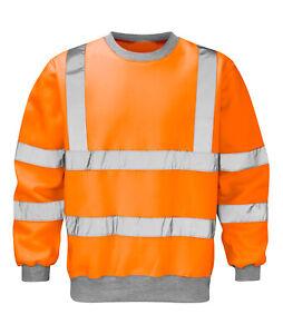 Hi Vis Hi Visibility Rail Spec Sweatshirt - Hi Viz Orange - HVSSR