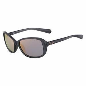 Nike EV0885-001 Poise R Sunglasses Crystal Dark Gray Rose Gold Flash Lens