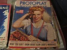 Photoplay combined Movie Mirror vintage Magazine July 1943 Judy Garland