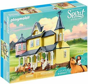 Playmobil Spirit 9475 Lucky's Happy Home Riding Free Kids Toy Horse Pony Playset