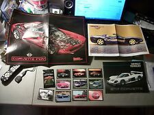 LOT OF 4 CORVETTE ITEMS 3 POSTERS AND OPENED PACK OF 10 CORVETTE CARDS